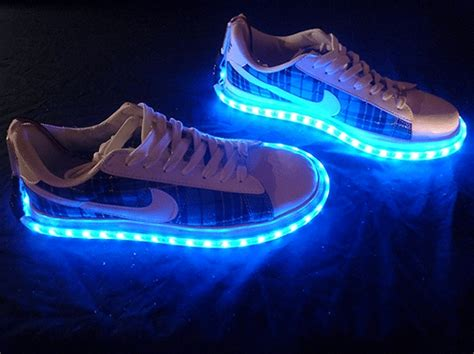 Sneakers With Lights vision x led shoe kit will make you walk on light bit rebels