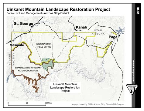 arizona blm land map comment opens on blm project in uinkaret mountains