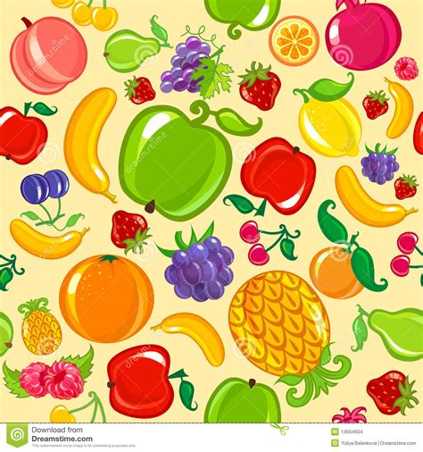 wallpaper cartoon fruit seamless fruit background stock vector image of food