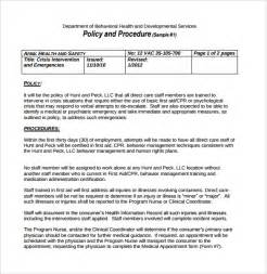 written procedure template policy and procedure template 10 documents in pdf