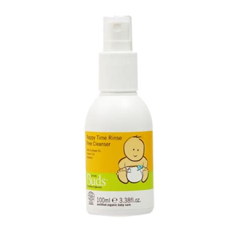 Buds Organics Infant Message 100ml buds organics nappy time rinse free cleanser 100ml