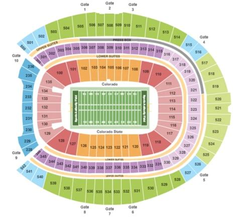 sports authority seating sports authority field at mile high tickets and sports