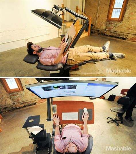 Alternative Desk Ideas This 5 900 Workstation Lets You Work Lying To Work The O Jays And Desks