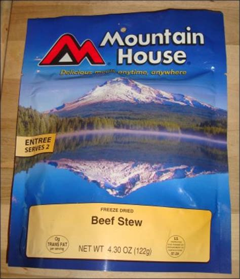 mountain house food review of mountain house beef stew by truckers