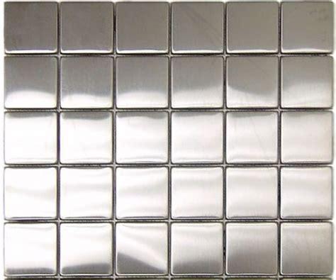 2 x 2 in stainless steel backsplash polished metal mosaic