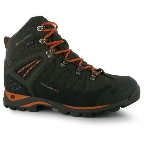 karrimor mens route walking boots waterproof suede