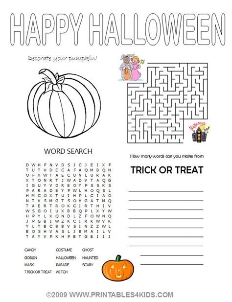 printable children s halloween activities 5 best images of halloween activities free printables