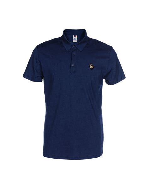 lyst le coq sportif polo shirt in blue for