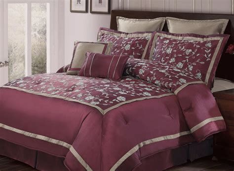 Burgundy Bed Sets Burgundy Oversize 8 Comforter Bed In A Bag Set Ebay