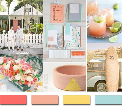 popular summer wedding color palettes 2014 trends elegantweddinginvites