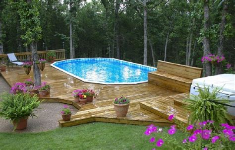 backyard above ground pool landscaping ideas deck above ground pool landscaping ideas top above