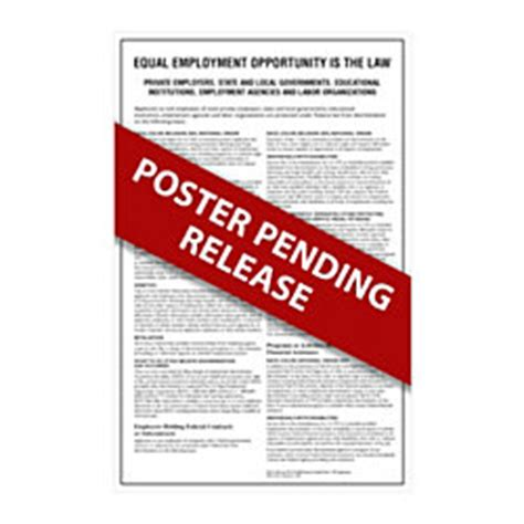 printable eeoc poster complyright federal specialty posters english eeoc large