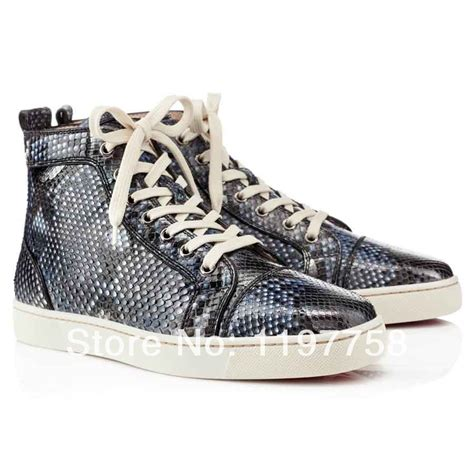 bottom sneakers mens mens bottom shoes high top navy python flat sneakers