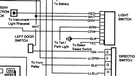 i need a headlight switch wiring diagram for a 1990