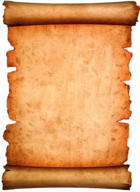 How To Make A Paper Scroll - vintage paper scroll isolated on white
