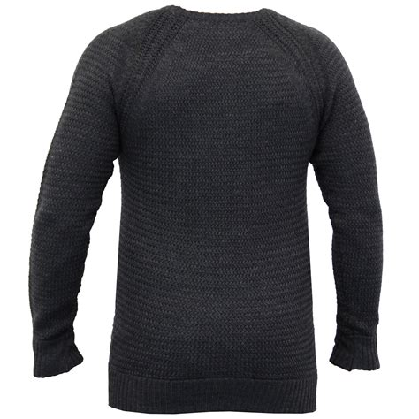 Sweater Brave mens cable knitted sweater pullover top jumpers by brave soul ebay