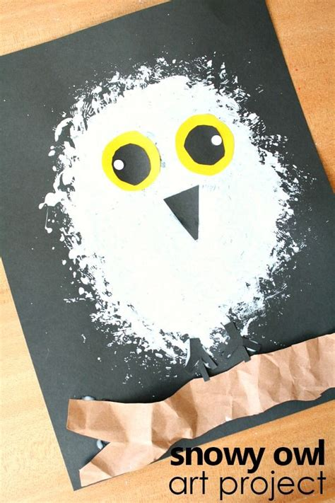 snowy owl winter craft for arctic animals