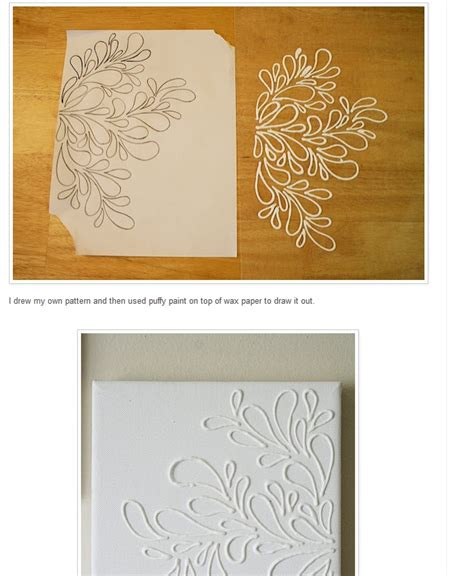 pattern wax paper supplies trace pattern with puffpaint on waxpaper glue