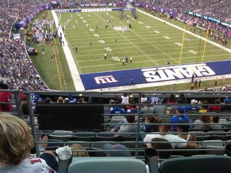 section 203a easy access to the seats solid views metlife stadium