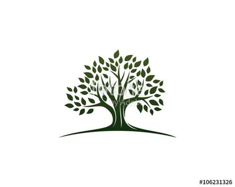 tree logo vector free quot green oak tree logo quot stock image and royalty free vector