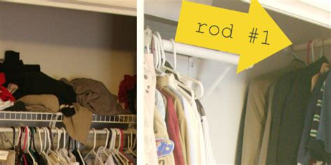 quikcloset clothes storage solution in closet rods and 7 awesome organizing hacks for your tiny closet huffpost