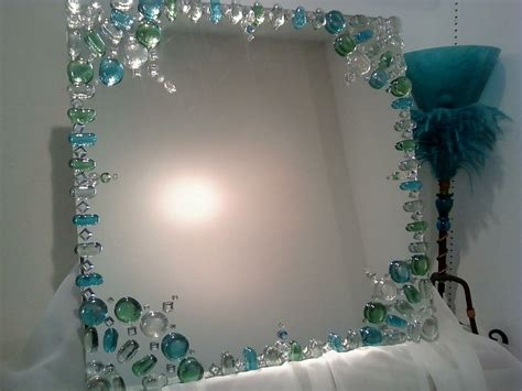 bathroom mirror decorating ideas mirror design idea decorating the edge with gems instead