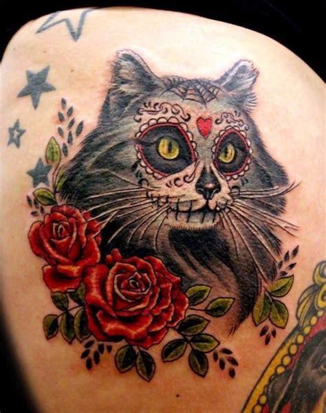 29 sugar skull cat 29 best kitty tattoos for all cat