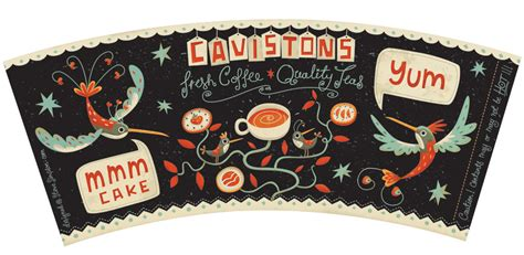 coffee cup design on behance steve simpson illustrated coffee cup