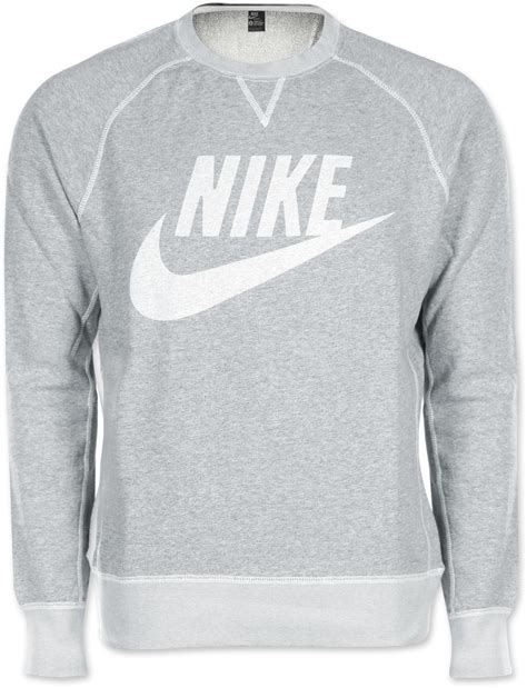 Sweater Logo nike vintage marl logo crew sweater grey