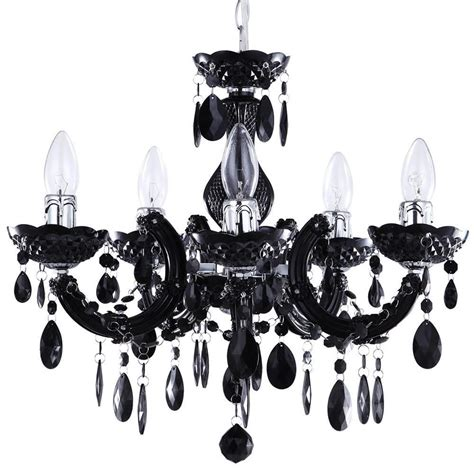 therese chandelier therese chandelier 5 light dual mount black from
