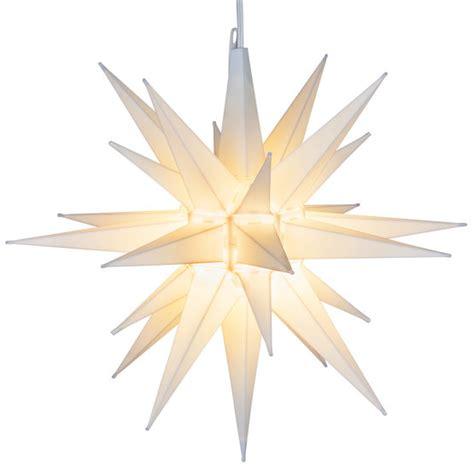 lighted moravian star white led yard envy