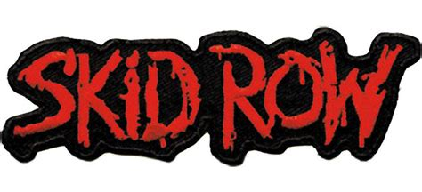 Skid Row Logo Embroidered Patch