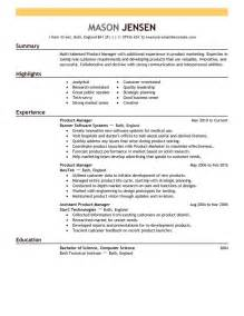 marketing resume template marketing resume sles lifiermountain org