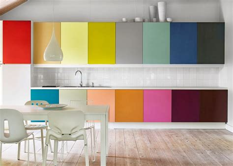 colorful kitchen cabinets ideas bright colors in kitchen design her beauty
