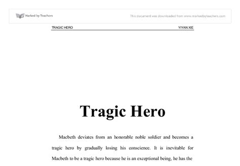 macbeth themes tragic hero exle about macbeth essay tragic hero