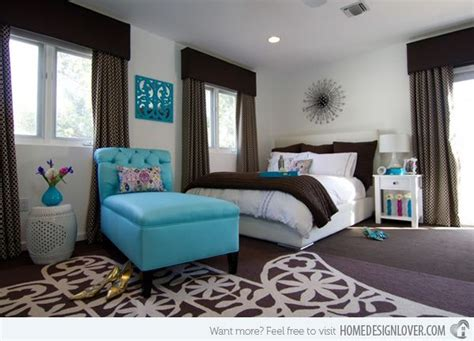 15 beautiful brown and teal bedrooms for the home