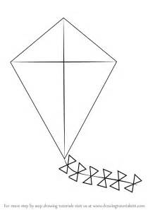 Kite Outline Picture by Learn How To Draw Kite For Everyday Objects Step By Step Drawing Tutorials