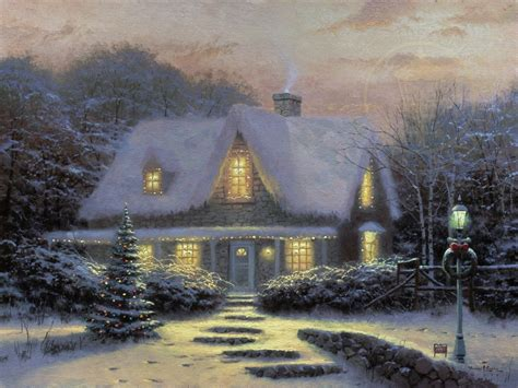kinkade cottage painting images of kinkade cottage painting