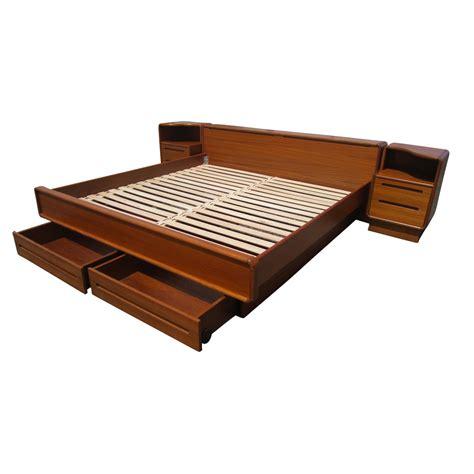 teak platform bed midcentury retro style modern architectural vintage furniture from metroretro and mcm