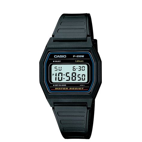 casio mens classic digital with black resin band