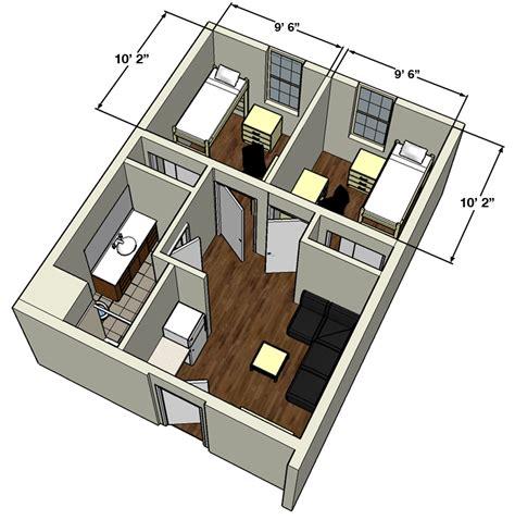 Dorm Room Floor Plans texas tech university university student housing