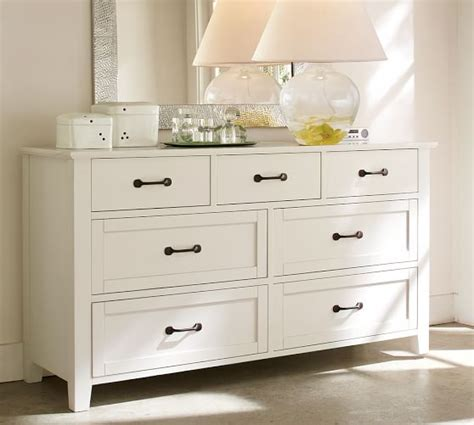 pottery barn cloud white dresser stratton extra wide dresser pottery barn