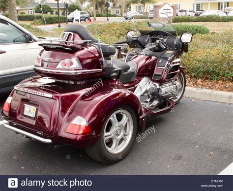 honda goldwing 3 wheel honda goldwing 3 wheeler stock photo royalty free image
