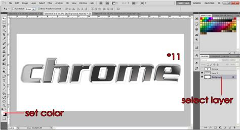 photoshop words chrome tutorial create chrome effects text photoshop tutorial org