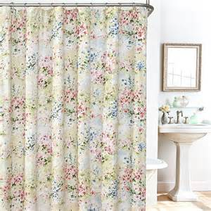 shop for shower curtains buy giverny floral plisse fabric shower curtain liner and