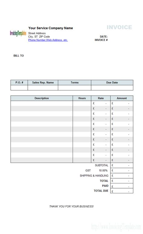 free invoice template uk invoice template uk limited company invoice exle