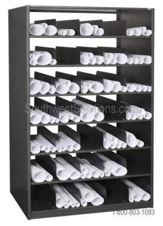 Rolled Blueprint Storage Shelving   Flat <a  href=