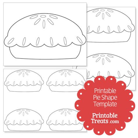 pie template printable pie shape template printable treats