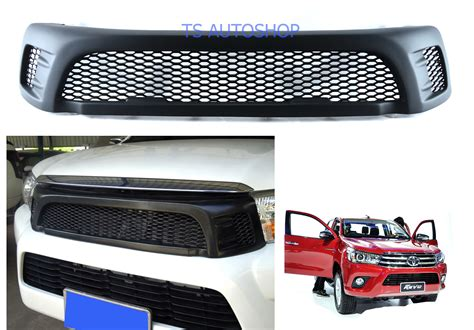 Front Grille Trd Sportivo All New Hilux matte black front grill grille trd for toyota hilux revo sr5 m70 m80 4x4 2015 on ebay