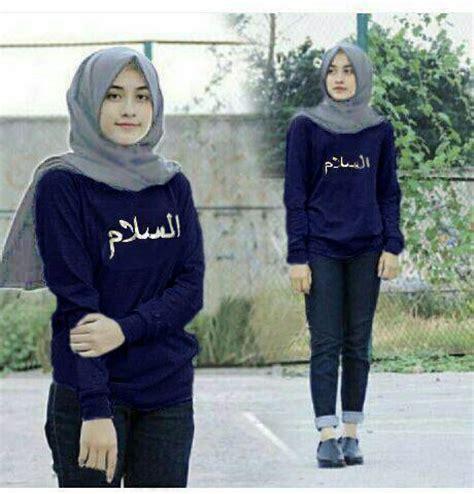 Kaos Panjang Murah Navy baju kaos panjang atasan wanita quot blouse arabian quot murah